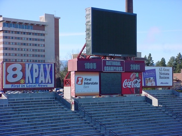 Griz Vision at Washington Grizzly Stadium in Missoula, MT